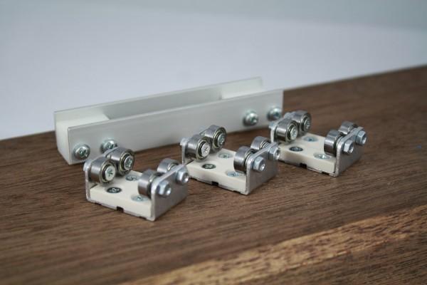 3-er Set Gleisrollenbock incl. Vor/Nachläufer Spur H0 Gleichstrom (DC/DCC)
