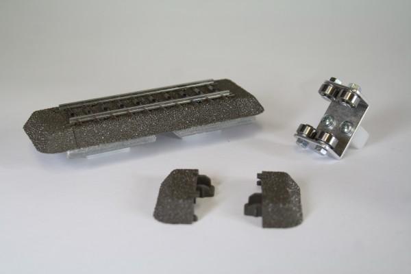 Zubehörset für Rollenprüfstand Spur H0 Wechselstrom digital/analog (500mm) (AC)