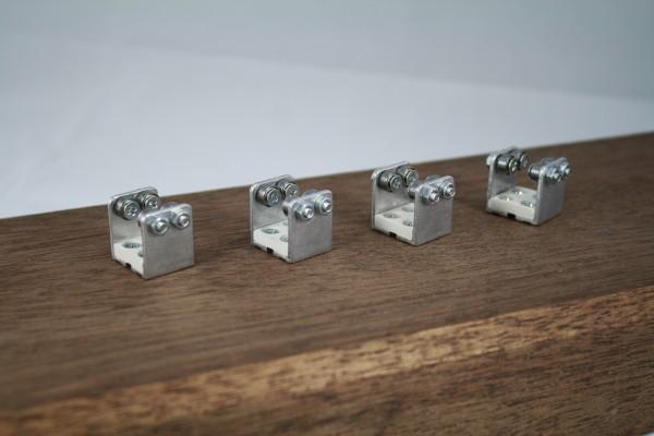 4-er Set Gleisrollenbock Spur N/H0e Gleichstrom (DC/DCC)