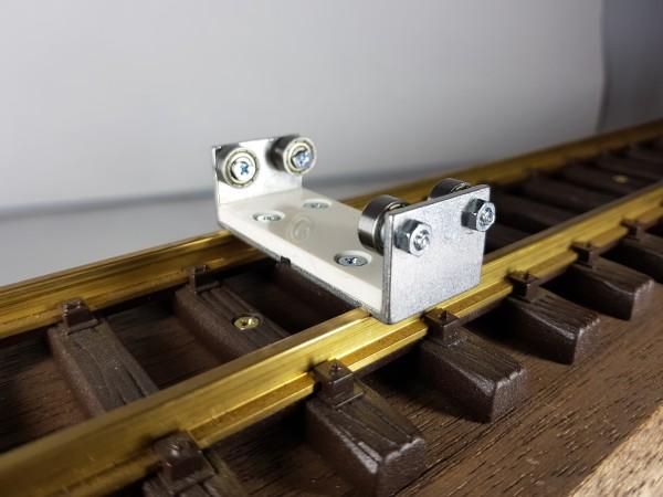 Schienenrollenbock Spur 1/G Gleichstrom (DC/DCC)
