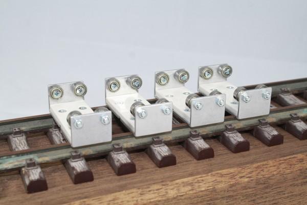 4-er Set Gleisrollenbock Spur 1/G Gleichstrom (DC/DCC)