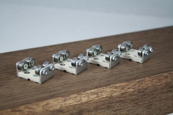 4-er Set Gleisrollenbock Spur H0 Gleichstrom (DC/DCC)