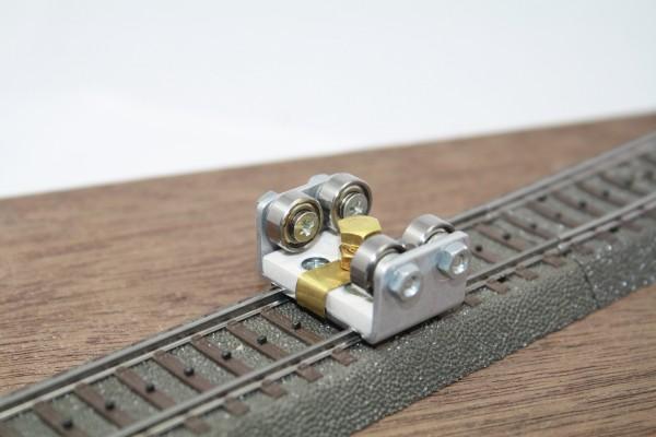 Gleisrollenbock Spur H0 Gleich/Wechselstrom (DC/DCC AC)