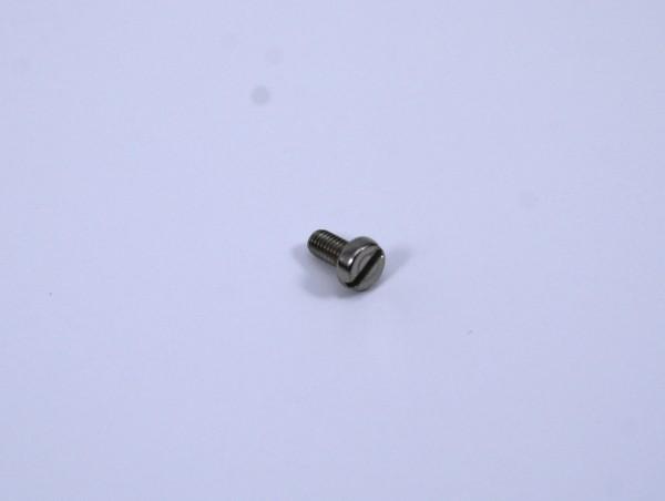 100 M3x6 Nirosta Schlitzschraube für Schienenverbinder Spur G