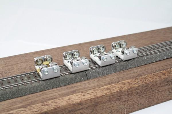 4-er Set Gleisrollenbock Spur H0 Gleich/Wechselstrom (DC/DCC AC)